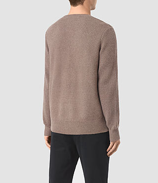 Hombres Karnett Crew Jumper (Fawn Brown Marl) - product_image_alt_text_4