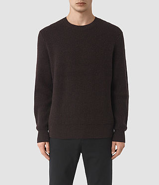 Men's Karnett Crew Jumper (Maroon Red) -
