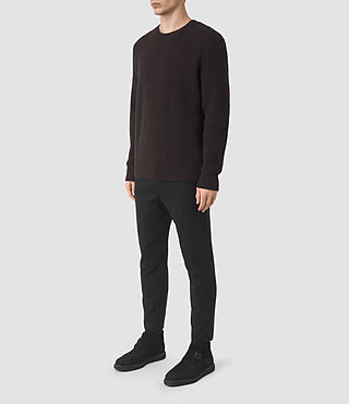 Men's Karnett Crew Jumper (Maroon Red) - product_image_alt_text_2