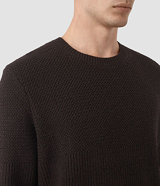 Men's Karnett Crew Jumper (Maroon Red) - product_image_alt_text_3