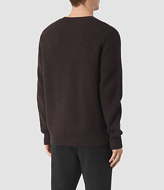Men's Karnett Crew Jumper (Maroon Red) - product_image_alt_text_4