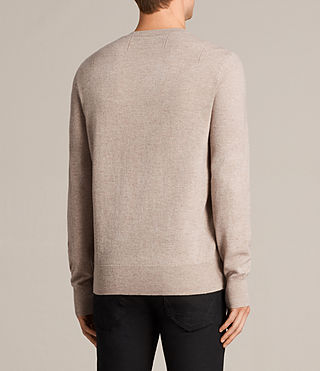Mens Fen Crew Sweater (Taupe Marl) - Image 4