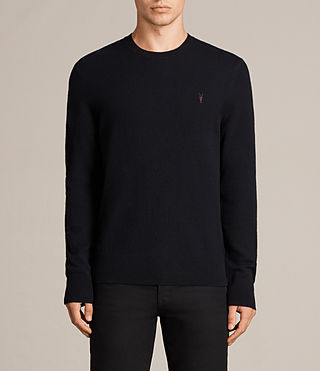 Mens Fen Crew Sweater (INK NAVY) - Image 1