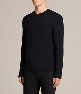 Mens Fen Crew Sweater (INK NAVY) - Image 3