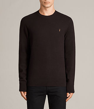 Men's Fen Crew Jumper (AUBERGINE RED) - Image 1