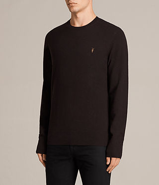 Men's Fen Crew Jumper (AUBERGINE RED) - Image 3