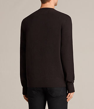 Men's Fen Crew Jumper (AUBERGINE RED) - Image 4
