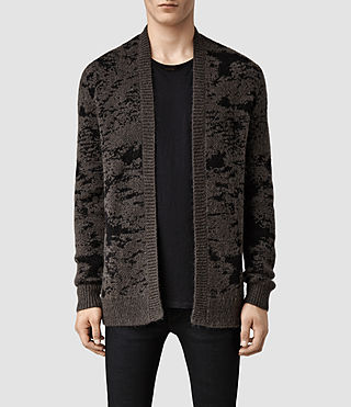 Mens Shiro Cardigan (Beluga/Black)