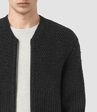 Hommes Mason Zip Through (Cinder Black Marl) - product_image_alt_text_2