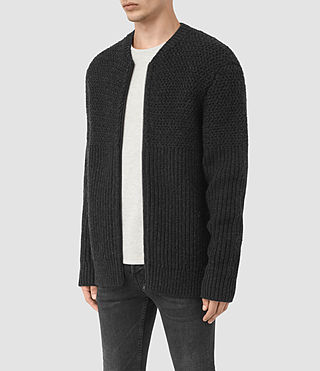 Hommes Mason Zip Through (Cinder Black Marl) - product_image_alt_text_3