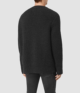 Hommes Mason Zip Through (Cinder Black Marl) - product_image_alt_text_4