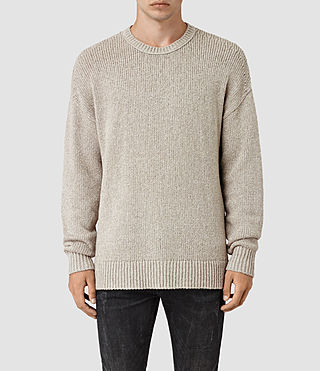 Mens Minami Crew Sweater (Taupe Marl) - product_image_alt_text_1