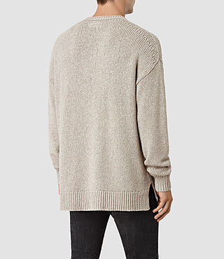 Men's Minami Crew Jumper (Taupe Marl) - product_image_alt_text_4
