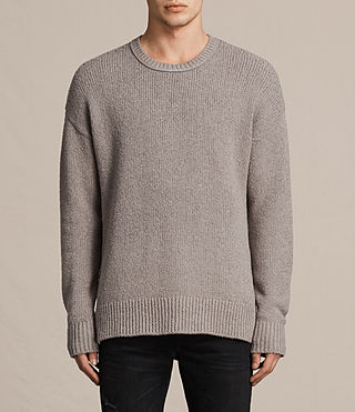 Men's Minami Crew Jumper (Putty Grey) -