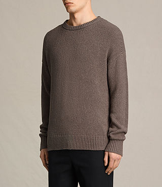 Men's Minami Crew Jumper (KHAKI TAUPE) - product_image_alt_text_3