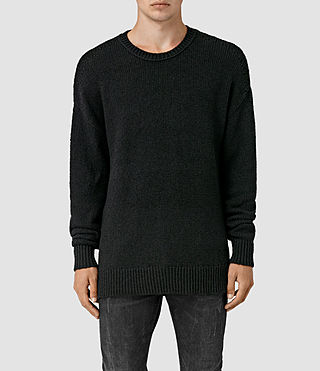 Mens Minami Crew Sweater (Black) - product_image_alt_text_1