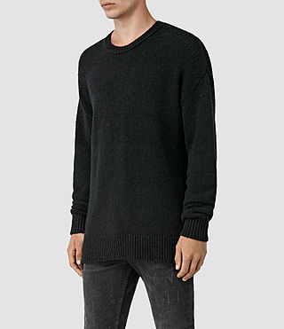 Mens Minami Crew Sweater (Black) - product_image_alt_text_2