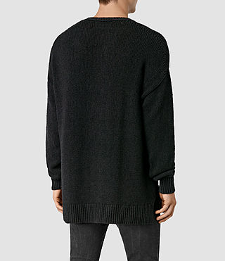 Mens Minami Crew Sweater (Black) - product_image_alt_text_3