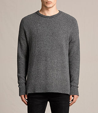 Mens Minami Crew Sweater (Charcoal Marl) - product_image_alt_text_1
