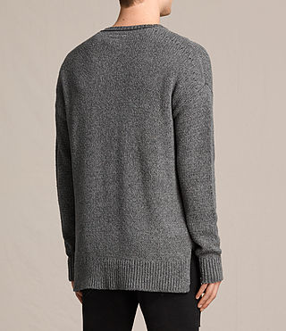 Mens Minami Crew Sweater (Charcoal Marl) - product_image_alt_text_3