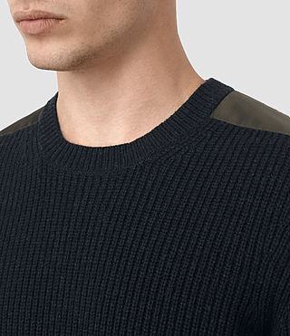 Mens Rylance Crew Sweater (Cinder Black Marl) - product_image_alt_text_2