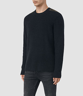Mens Rylance Crew Sweater (Cinder Black Marl) - product_image_alt_text_3