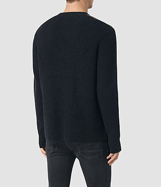 Mens Rylance Crew Sweater (Cinder Black Marl) - product_image_alt_text_4