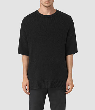 Hombres Minami Knitted T-Shirt (Black)