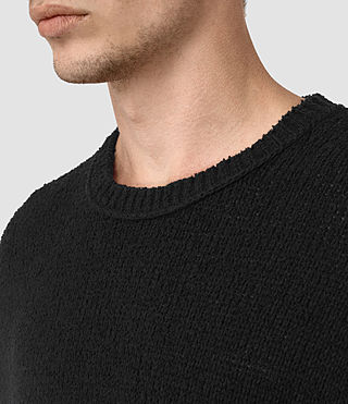 Hombres Minami Knitted T-Shirt (Black) - product_image_alt_text_2