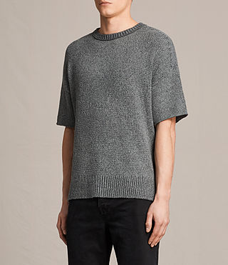 Herren Minami Short Sleeve Crew T-Shirt (Charcoal Marl) - product_image_alt_text_3