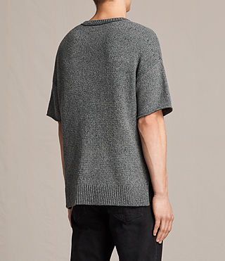 Herren Minami Short Sleeve Crew T-Shirt (Charcoal Marl) - product_image_alt_text_4