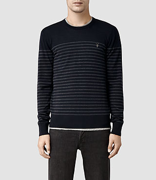 Mens Keel Merino Crew Sweater (Ink/Charcoal Mrl)