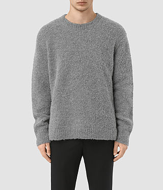 Mens Hinami Crew Sweater (Grey Marl)