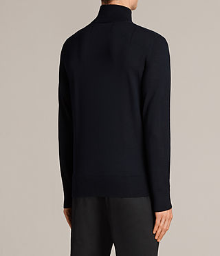 Mens Mode Merino Roll Neck Jumper (INK NAVY) - Image 4