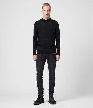 Mens Mode Merino Hoody (Black) - Image 3