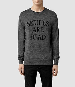 Mens Mortal Crew Sweater (Charcoal Marl)