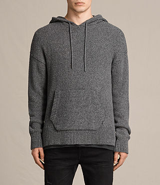 Men's Minami Knitted Hoody (Charcoal Marl)