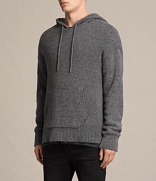 Hommes Sweat à capuche Minami (Charcoal Marl) - product_image_alt_text_2