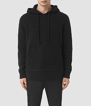 Mens Hinami Knitted Hoody (Black) - product_image_alt_text_1