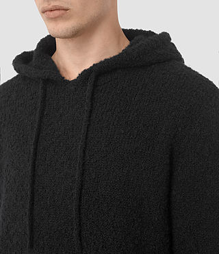 Hombres Hinami Knitted Hoody (Black) - product_image_alt_text_3