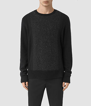 Mens Opie Crew Sweater (InkNavy/CindBlkMrl) - product_image_alt_text_1