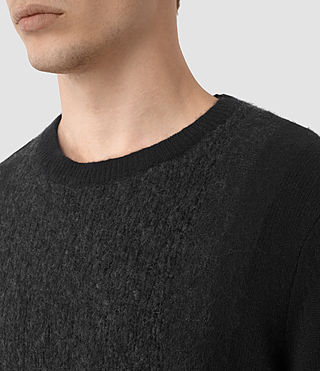 Mens Opie Crew Sweater (InkNavy/CindBlkMrl) - product_image_alt_text_2