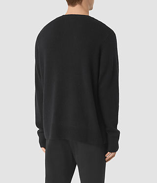 Mens Opie Crew Sweater (InkNavy/CindBlkMrl) - product_image_alt_text_4