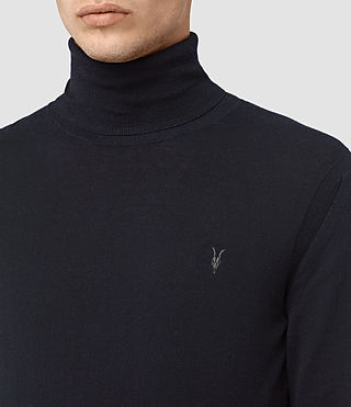 Men's Rue Roll Neck Jumper (INK NAVY) - product_image_alt_text_2