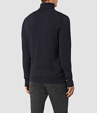 Mens Rue Roll Neck Jumper (INK NAVY) - product_image_alt_text_4