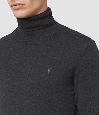 Hombres Rue Roll Neck Jumper (Cinder Black Marl) - product_image_alt_text_2