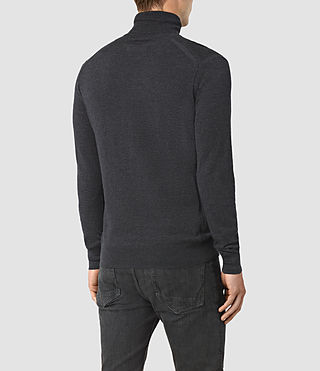 Hombres Rue Roll Neck Jumper (Cinder Black Marl) - product_image_alt_text_4