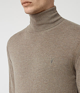 Mens Rue Roll Neck Jumper (Fawn Brown Marl) - product_image_alt_text_2