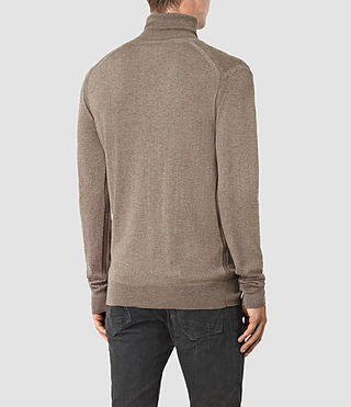 Mens Rue Roll Neck Jumper (Fawn Brown Marl) - product_image_alt_text_4