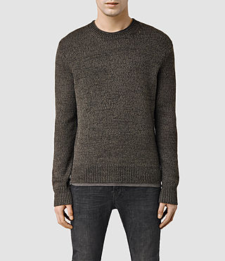 Men's Thwaite Crew Jumper (Khaki Brown)